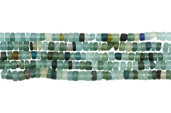 Roman Glass Natural 4mm Heishi