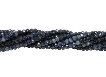 Ombre Sapphire Polished 2mm Faceted Rondel