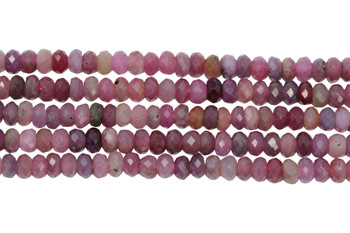 Ruby Polished 4x3mm Faceted Rondel