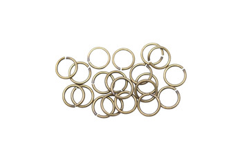 Antique Brass 6mm Round 21 Gauge OPEN Jump Rings - 20 Pieces