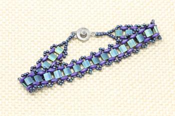 Garden Path Bracelet Kit - Purple and Teal