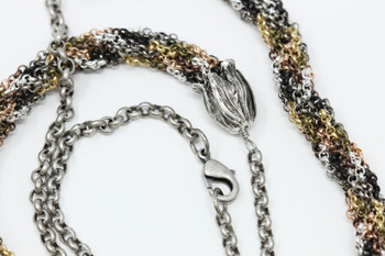 Kumihimo Necklace Kit - Mixed Metal