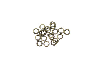 Antique Brass 3mm Round 22 Gauge OPEN Jump Rings - 20 Pieces
