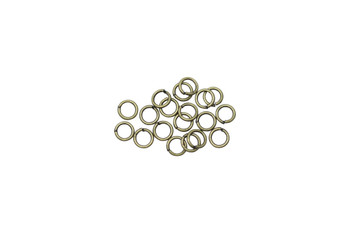 Antique Brass 4mm Round 21 Gauge OPEN Jump Rings - 20 Pieces