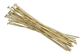 "Gold Plated 2"" Long 20 Gauge Head Pins - 20 Pieces"