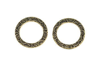 "3/4"" Spiral Ring - Gold Plated"