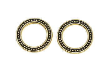 """3/4"""" Beaded Ring - Gold Plated"""