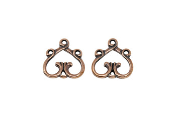 3 to 1 Heart - Copper Plated