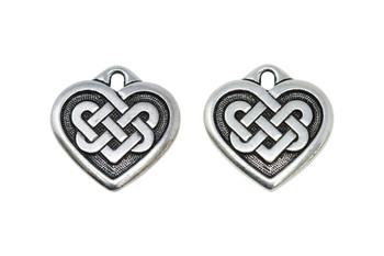 Large Celtic Heart - Silver Plated