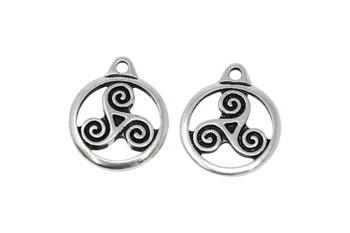 Small Triskele - Silver Plated