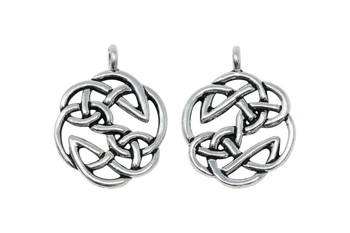 Open Knot  - Silver Plated