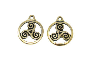Small Triskele - Gold Plated