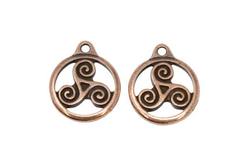 Small Triskele - Copper Plated