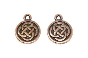 Celtic Round  - Copper Plated