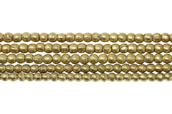 Ethiopian Brass 3-4mm Round