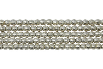 Silver Plated Ethiopian Brass 3-4mm Round