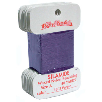 Silamide Thread - Size A - Purple