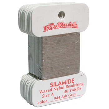 Silamide Thread - Size A - Ash Grey
