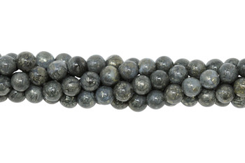 Pyrite in Crystal Polished 6mm Round