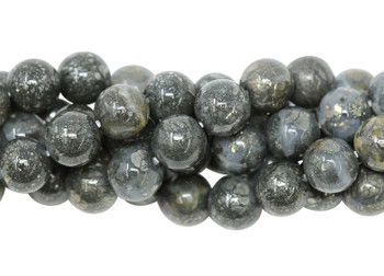 Pyrite in Crystal Polished 8mm Round