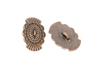 Western Button  - Copper Plated