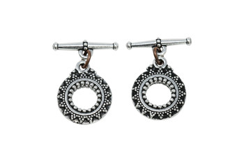 Bali Toggle Bar and Eye - Silver Plated