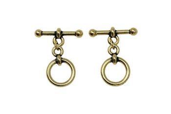 "Medium 1/2"" Anna Toggle Bar and Eye - Gold Plated"