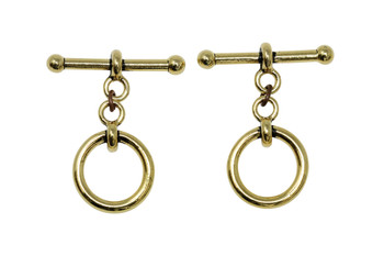 "Large 3/4"" Anna Toggle Bar and Eye - Gold Plated"