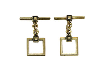 Deco Square Toggle Bar and Eye - Gold Plated
