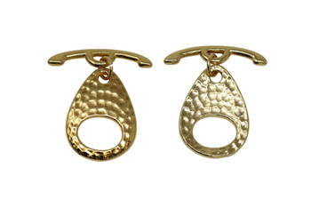 Ellipse Toggle Bar and Eye - Gold Plated