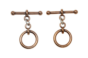 "Medium 1/2"" Anna Toggle Bar and Eye - Copper Plated"