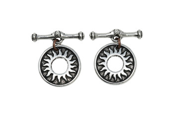 Del Sol Toggle Bar and Eye - Silver Plated