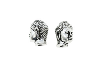Large Hole Buddha  - Silver Plated