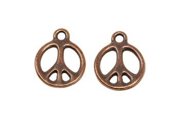 Peace Charm  - Copper Plated