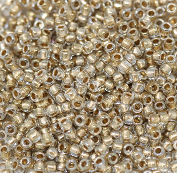 Size 8 Toho Seed Beads -- 378 Antique Gold Lined
