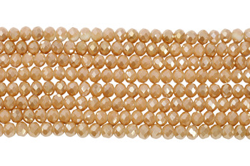 Chinese Crystal Polished 8x6mm Faceted Rondel - Creamsicle