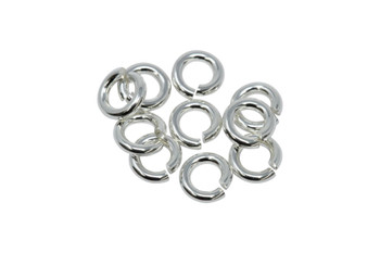Sterling Silver 4mm Round 19 Gauge OPEN Jump Rings - 10 Pieces