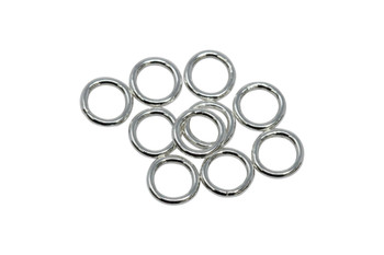 Sterling Silver 4mm Round 22 Gauge CLOSED Jump Rings - 10 Pieces