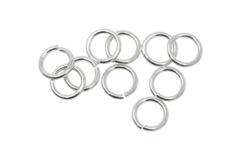Sterling Silver 6mm Round 19 Gauge OPEN Jump Rings - 10 Pieces