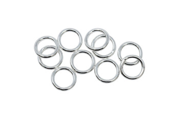 Sterling Silver 7mm Round 21 Gauge CLOSED Jump Rings - 10 Pieces