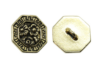 Blossom Button - Gold Plated