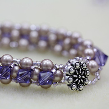 Tanzanite Right Angle Weave Bracelet