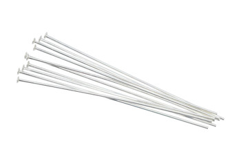 "Sterling Silver 1.5"" Long 24 Gauge Head Pins - 10 Pieces"