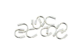 """Sterling Silver Cable Thimbles .021"""" Hole - 10 Pieces"""