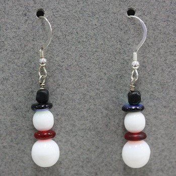 Snowman (Czech glass) Earring Kit