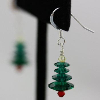 Christmas Tree (Swarovski) Earring Kit - Green