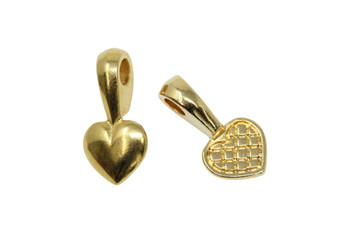 Heart Glue-on Pad - Gold Plated