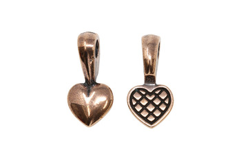 Heart Glue-on Pad - Copper Plated