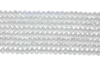 Chinese Crystal Polished 8x6mm Faceted Rondel - Crystal
