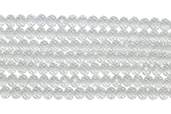 Chinese Crystal Polished 9x7mm Faceted Rondel - Crystal